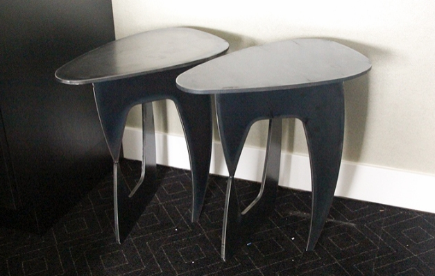 Cut steel for design tables